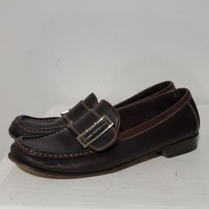 Coach Brown Leather Loafers Size 7.5